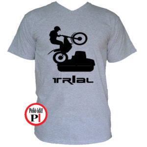 trail póló trialer szürke