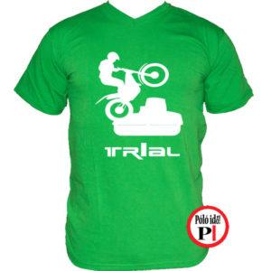 trail póló trialer zöld
