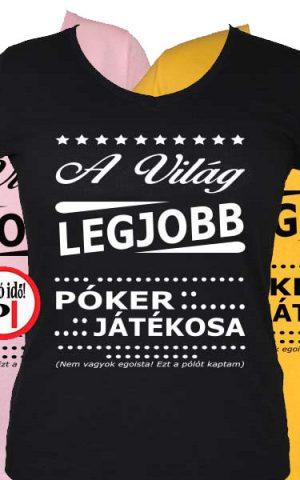 ajándék póker póló női
