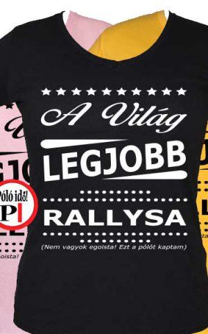ajándék rally póló női
