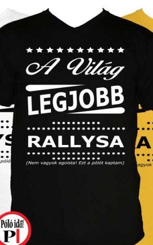 ajándék rally póló