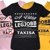 ajándék taxi póló női
