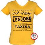 ajándék taxi póló női citrom