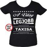 ajándék taxi póló női fekete