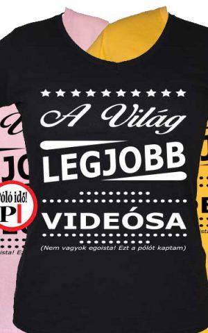 ajándék videós póló női