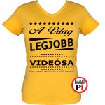 ajándék videós póló női citrom