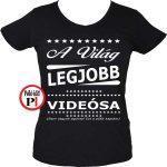 ajándék videós póló női fekete