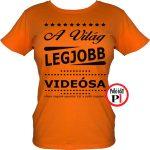 ajándék videós póló női narancs