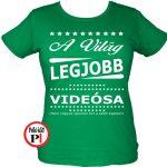 ajándék videós póló női zöld