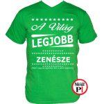 ajándék zenekaros póló zöld