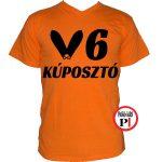 autós póló kúposztó v6 narancs