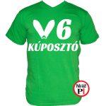 autós póló kúposztó v6 zöld