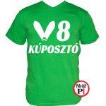 autós póló kúposztó v8 zöld