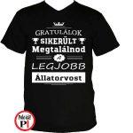 gratulálok állatorvos póló fekete