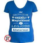 gratulálok állatorvos póló női kék