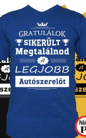 gratulálok autószerelő póló