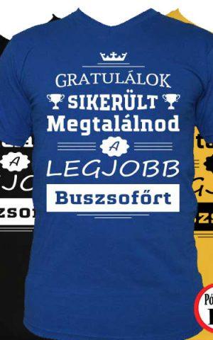 gratulálok buszsofőr póló
