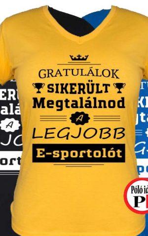gratulálok e-sport póló női