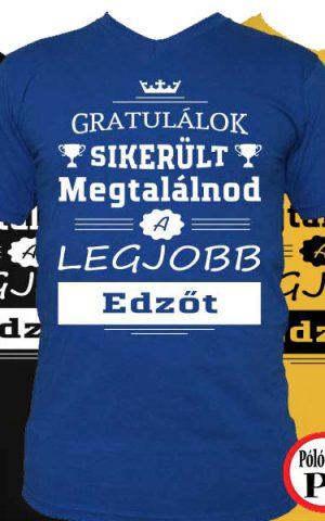 gratulálok edző póló