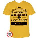 gratulálok edző póló citrom