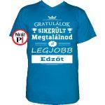 gratulálok edző póló vkék