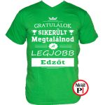 gratulálok edző póló zöld