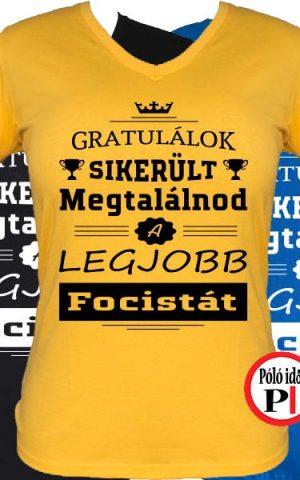 gratulálok focis póló női