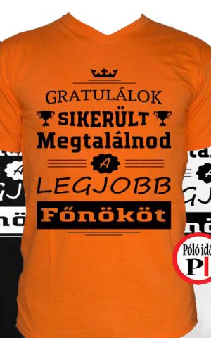 gratulálok főnök póló