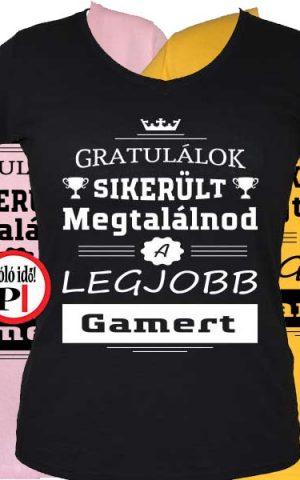 gratulálok gamer póló női