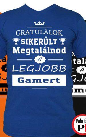 gratulálok gamer póló