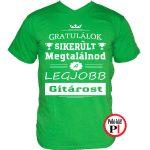 gratulálok gitáros póló zöld