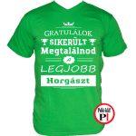 gratulálok horgász póló zöld