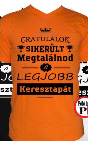 gratulálok keresztapa póló