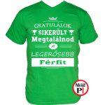 gratulálok kondi gyúrós póló zöld