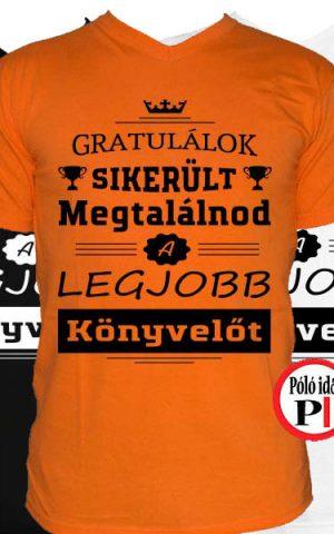 gratulálok könyvelő póló