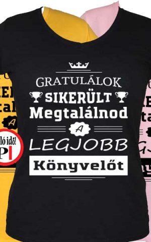 gratulálok könyvelő póló női