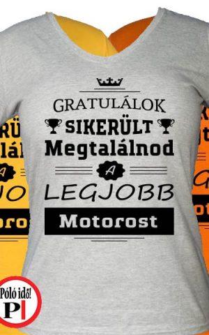 gratulálok motoros póló női