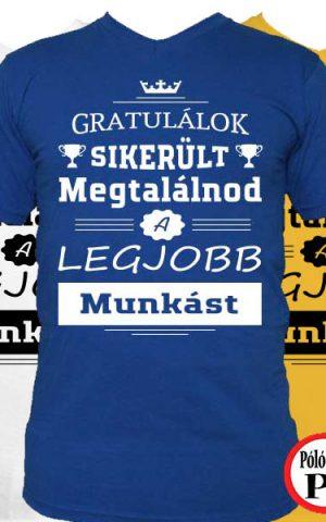 gratulálok munkás póló
