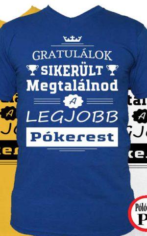 gratulálok pókeres póló