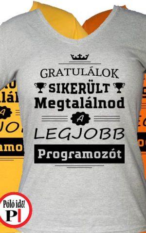 gratulálok programozó póló női