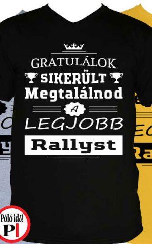 gratulálok rally póló