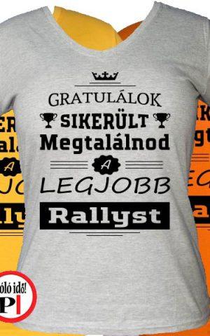 gratulálok rally póló női