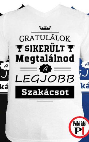 gratulálok szakács póló