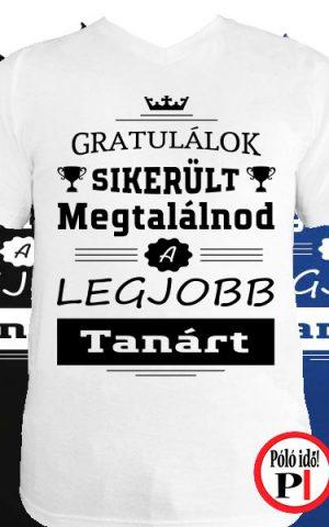 gratulálok tanár póló