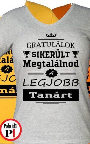 gratulálok tanár póló női