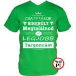 gratulálok targoncás póló zöld