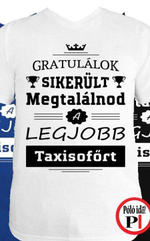 gratulálok taxi póló