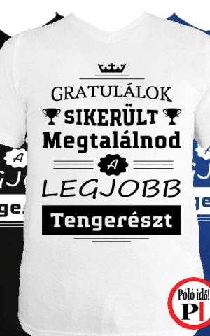 gratulálok tengerész póló