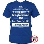 gratulálok tengerész póló kék