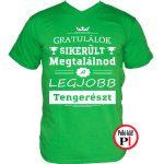 gratulálok tengerész póló zöld